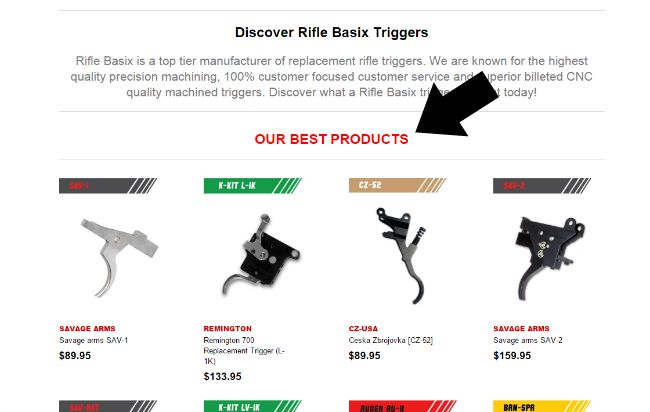 Rifle Basix After Market Triggers Best Sellers