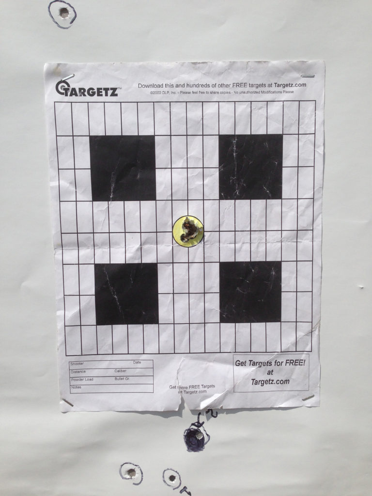 Shooting Target Grouping with Rifle Basix L-1K Trigger